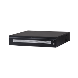 64 CH Enterprise 4K Network Video Recorder. 384 Mbps, Supports Up to 12Mp resolution, 8 HDD Bays (Single, RAID, Hot-swap)