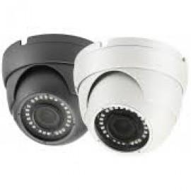 4MP H.264+ & H.265 Full HD Network IR Eyeball Dome Camera. 2.8mm Fixed Lens, IR(100ft), IP67, PoE